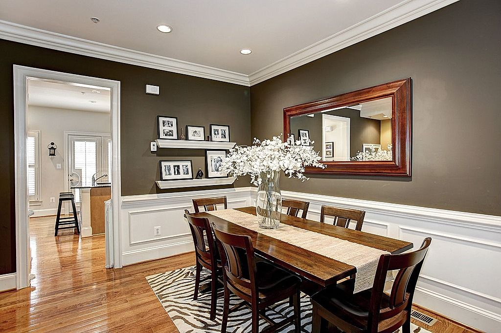 Dining Room Paint Colors Design Cottage Rooms White Carpet Transitional Dark