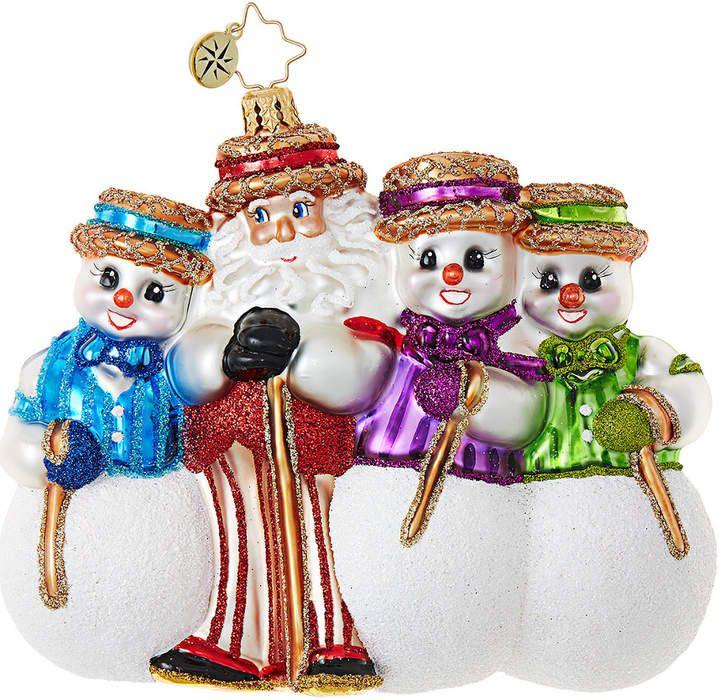 Christopher Radko Santa's Barbershop Quartet Ornament ...