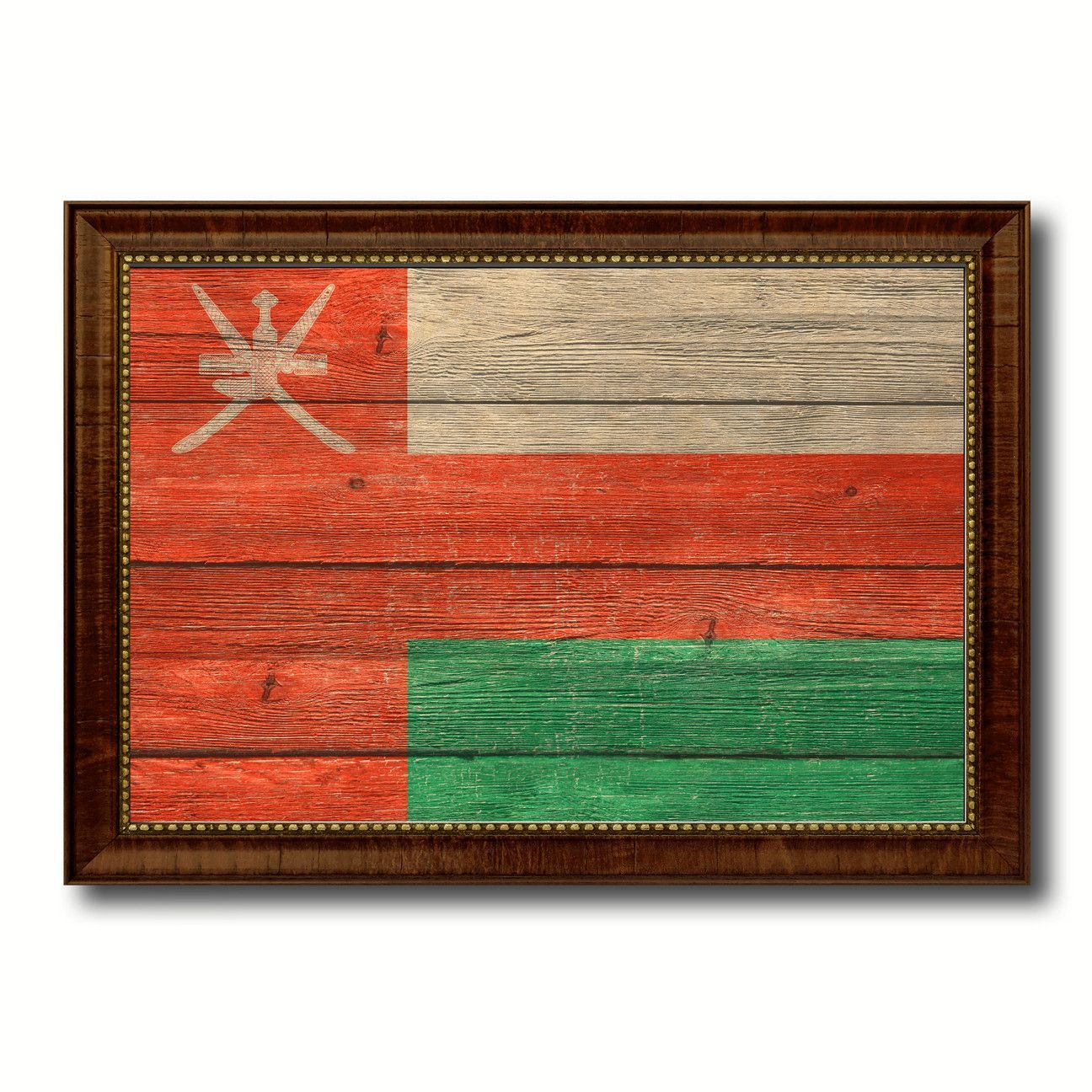 Oman Country Flag Texture Canvas Print, Custom Frame Home Decor Gift Ideas Wall Decoration