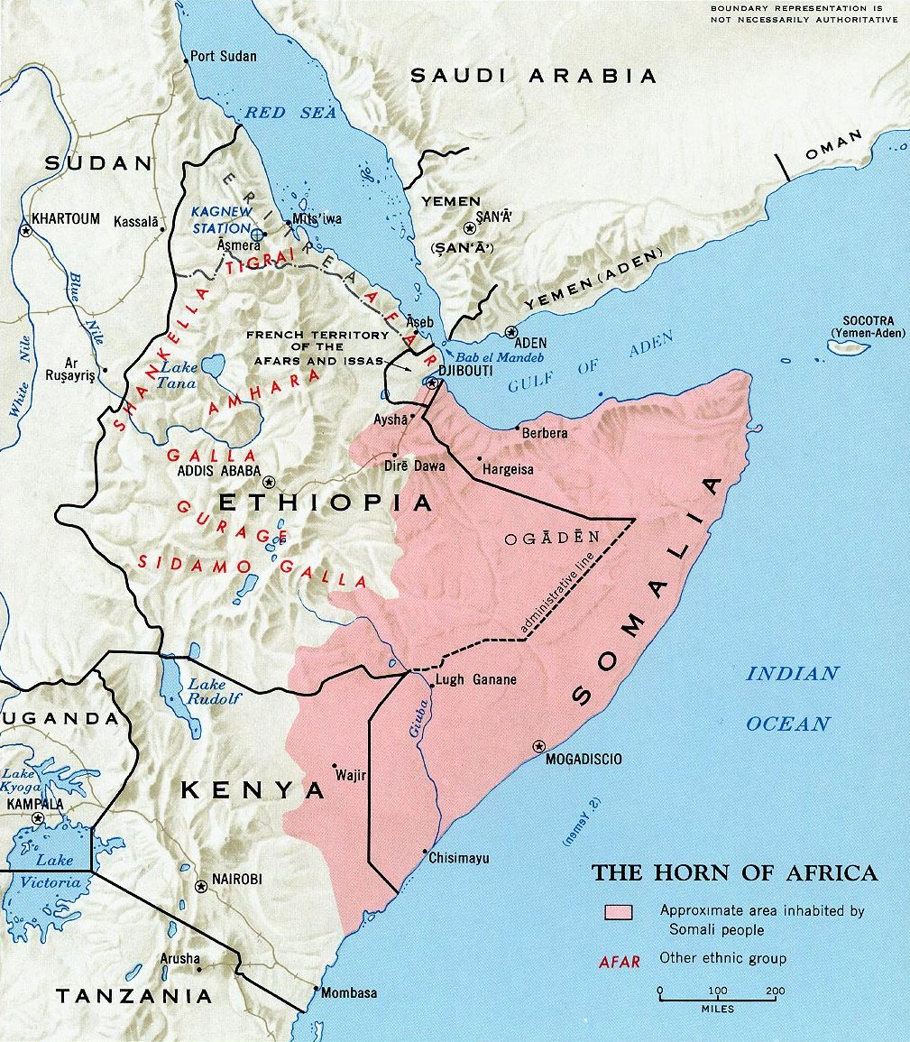 Map Showing The Distribution Of The Afro Asiatic Somali Language