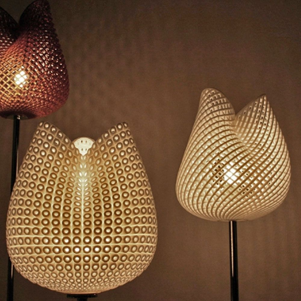 MGX By Materialise   Tulip Table Light 3D Printed