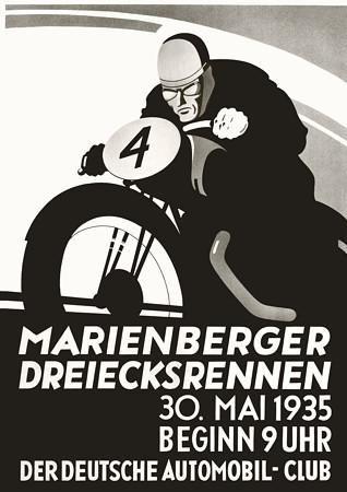 Vintage German Motorcycle Races Posters & Canvas Prints