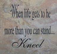 Kneel.