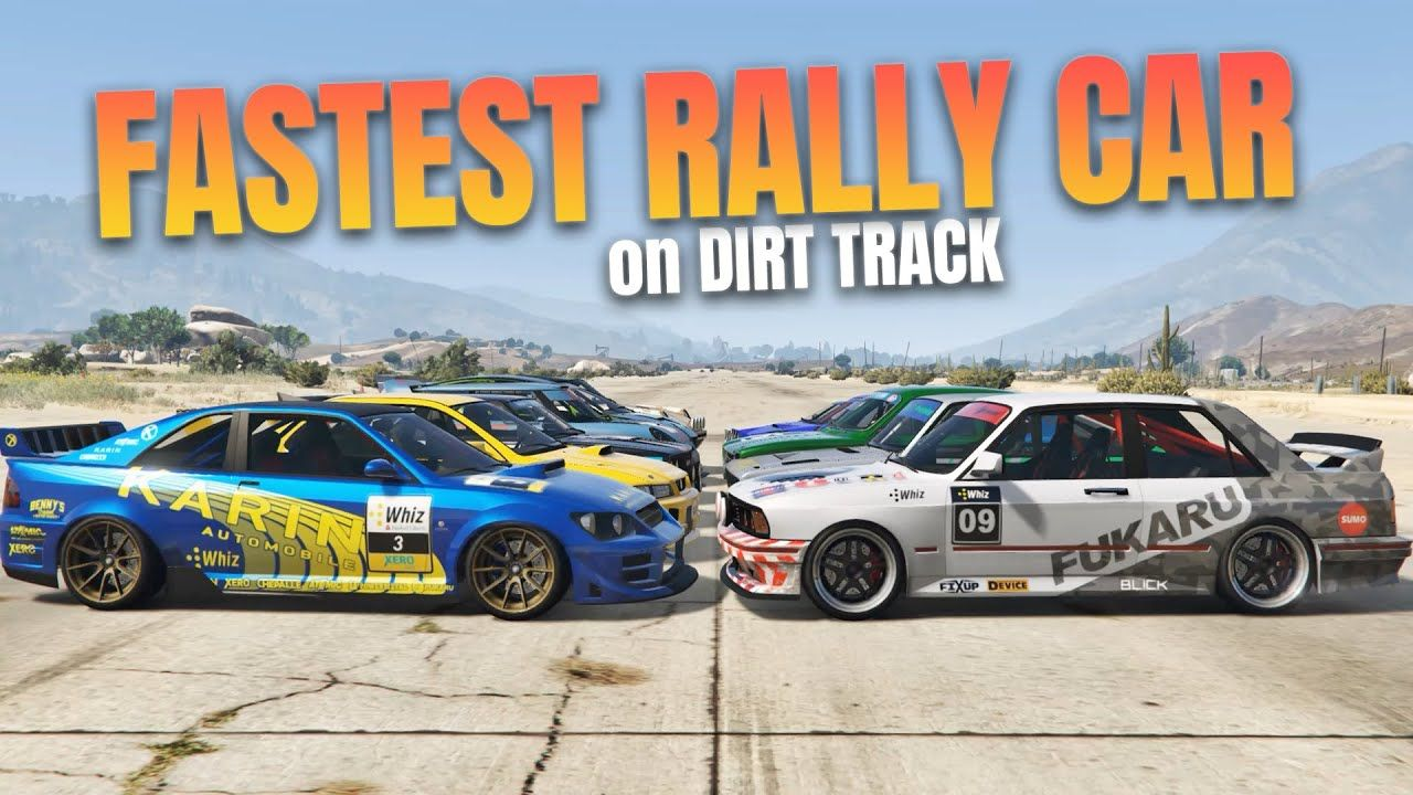 Gta 5 Online Which Is Fastest Rally Car On Dirt Track Rally Car Gta 5 Rally