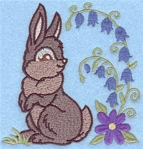 Bunny looking back small (AIGB117) Embroidery Design by Adorable Ideas