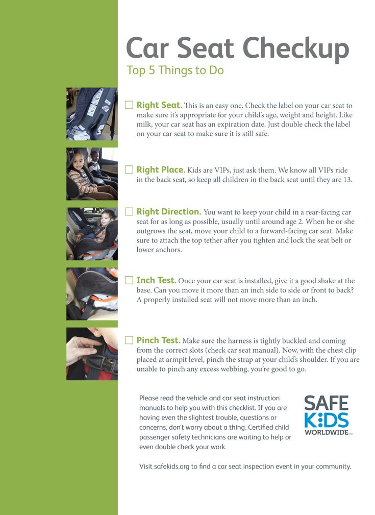 Car Seat Checklist For Parents Pdf With Images Car Seats