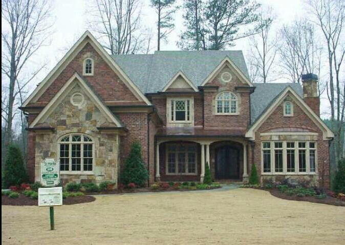 home exterior design brick and stone