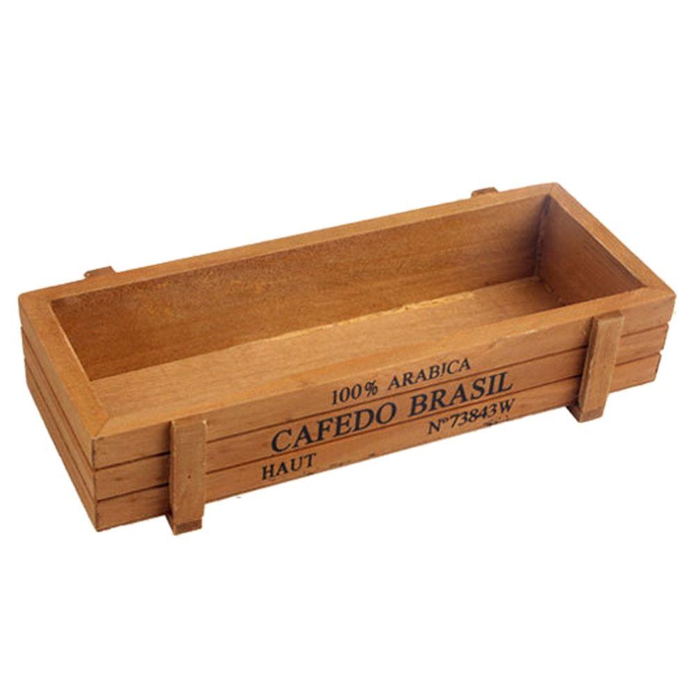 Innovativ Vintage Holz Garten Blume Pflanzer Kiste Sukkulenten Rechteck  RV43