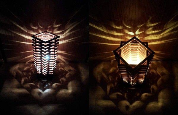 Unica Lampada CRIE SUA uma propria, com pauzinhos de Bambu 9
