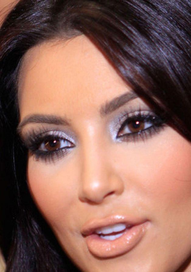 kim kardashian eye makeup close up kim kardashian