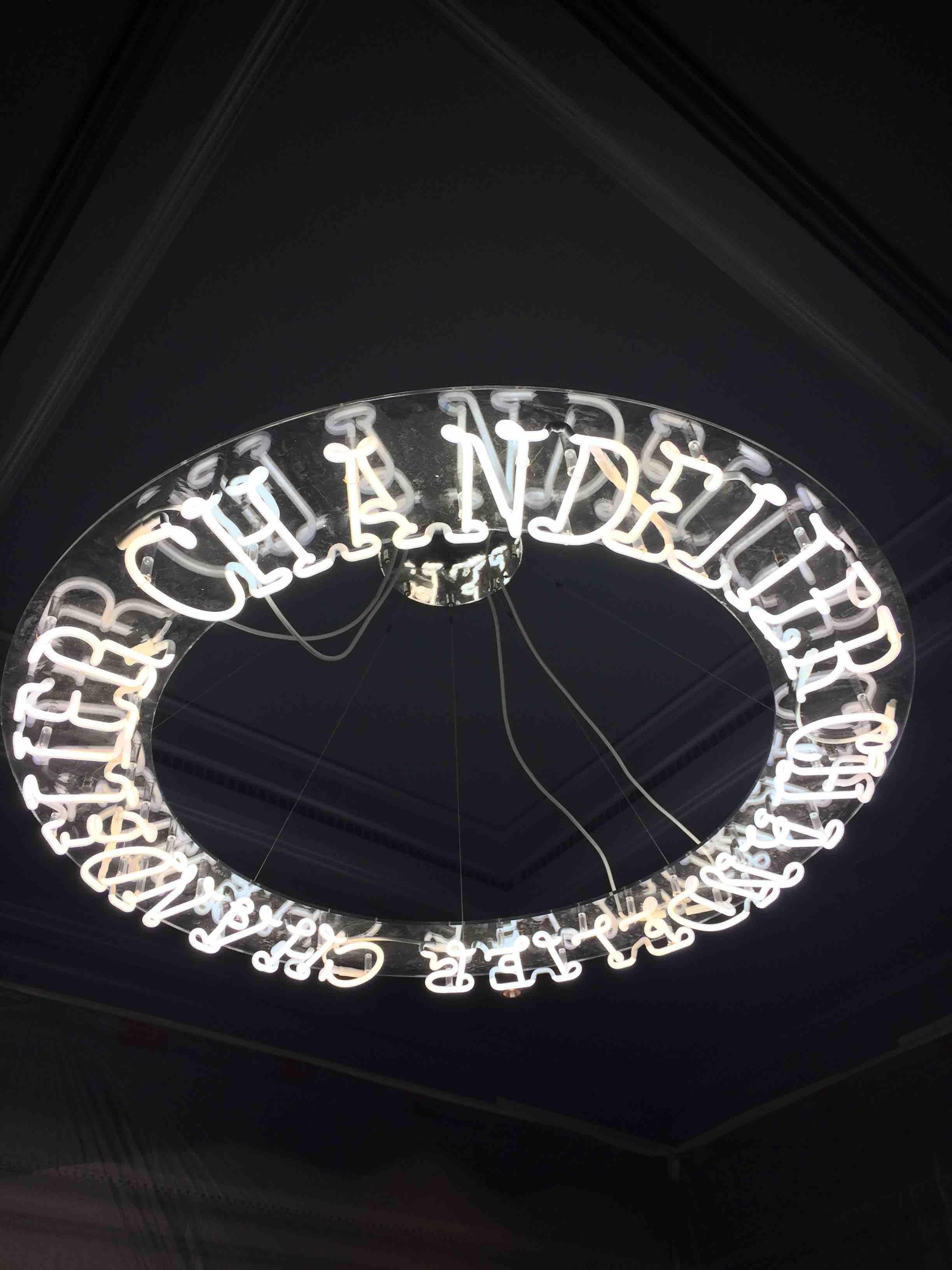 Küchenlampe Neon Ring Neon Chandelier Hotel Lighting Made In La Custom Made