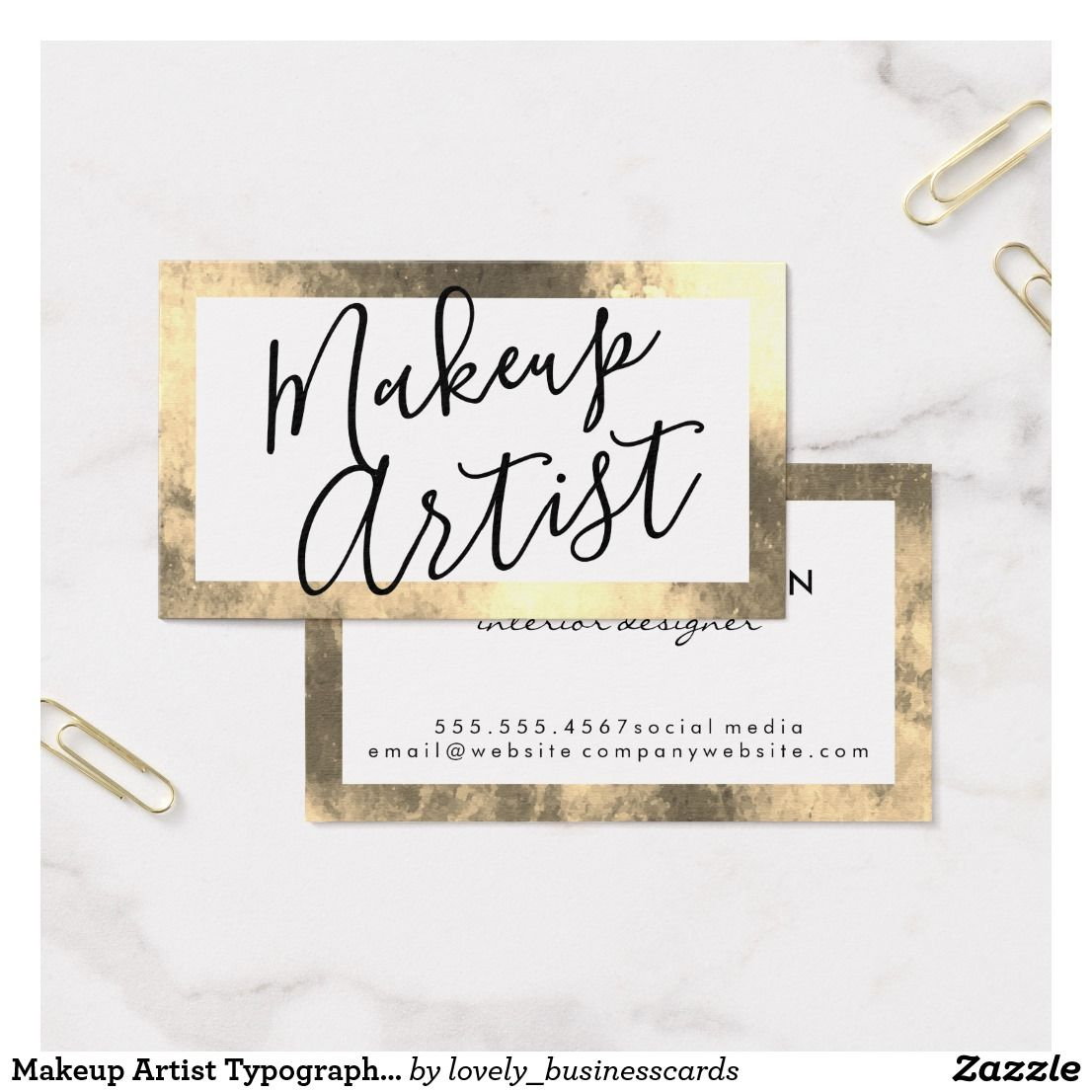 Makeup artist typography gold lux business card business cards makeup artist typography gold lux business card colourmoves