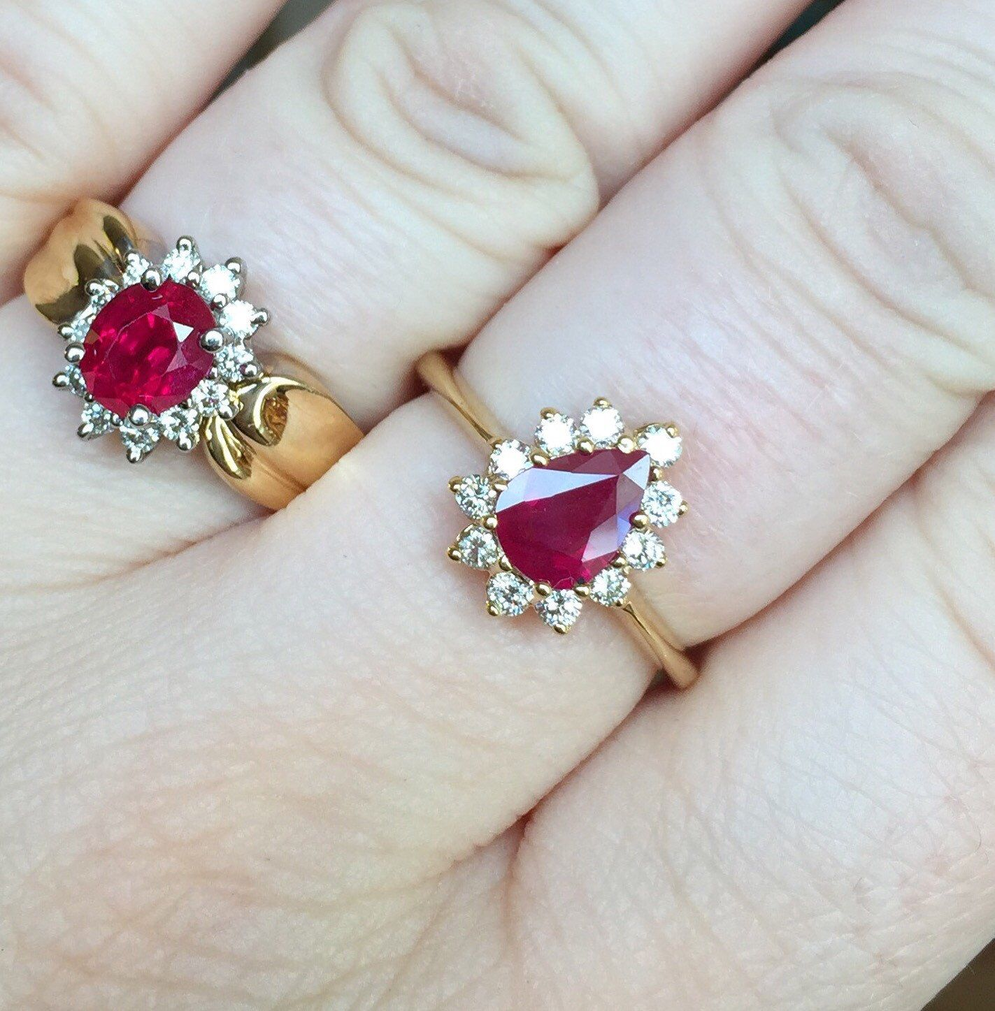 18k ruby and diamond ring from my Etsy shop https://www.etsy.com/listing/475190712/18k-yellow-gold-114ct-ruby-and-027ct