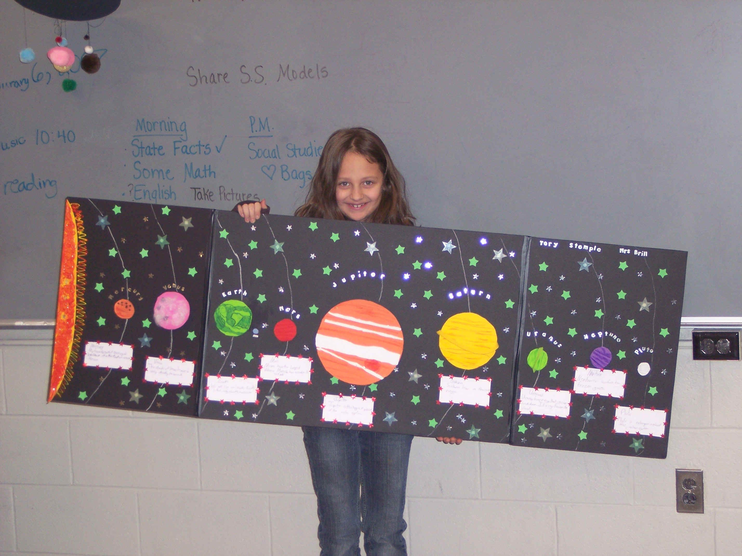Superior Craft Ideas For Kids Solar System Part - 7: Solar System Projects For 3rd Grade | Third Graders Have Been Studyingthe Solar  System. Students