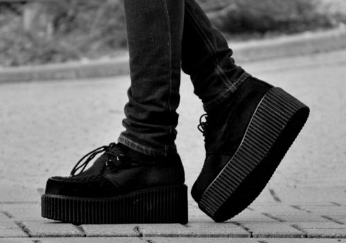 Ladies Casual Canvas Platform Trainers Women Lace Up Boot Creeper Pump Shoes 3-8