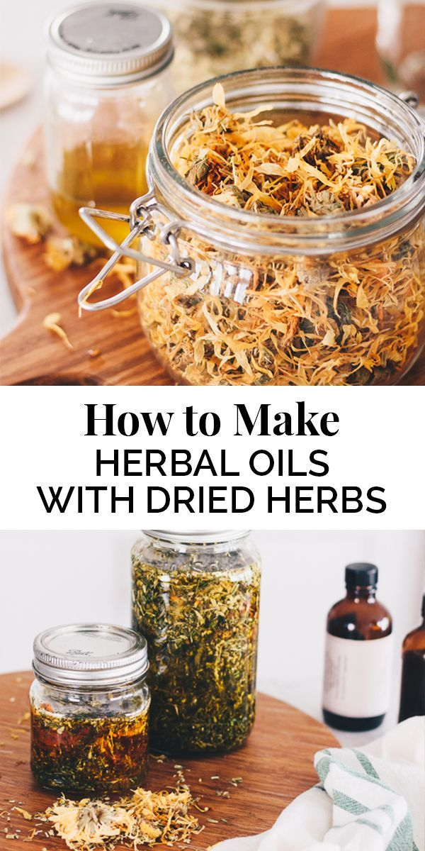 How to Make Herbal Oil Infusions with Dried Herbs is part of Herbalism, Herbal oil, Drying herbs, Herbal tinctures, Herbal healing, Herbs - How to make herb infused oils with dried herbs  This tutorial is great for body and skin care products and herbal infused cooking oils
