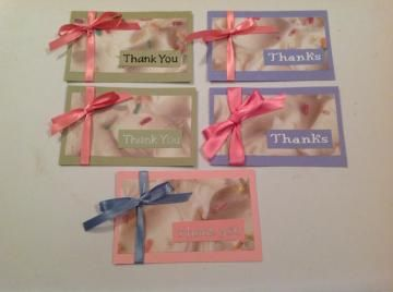 Thank You Notecards - Set of 5 by POPPINS Custom Greetings for $4.99