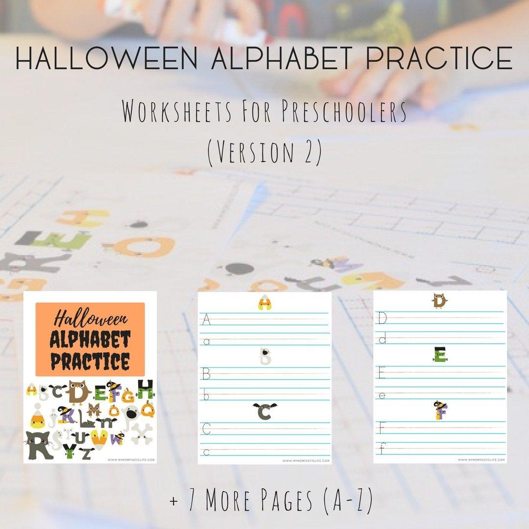 Halloween Alphabet Practice Worksheets For Preschoolers