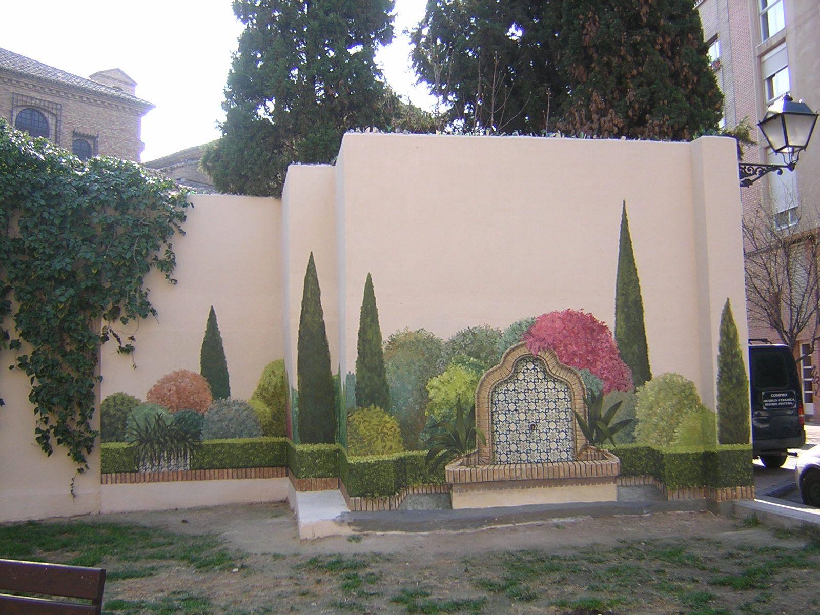 Resultado de imagen de como decorar el muro del jardin - Muros de jardin ...