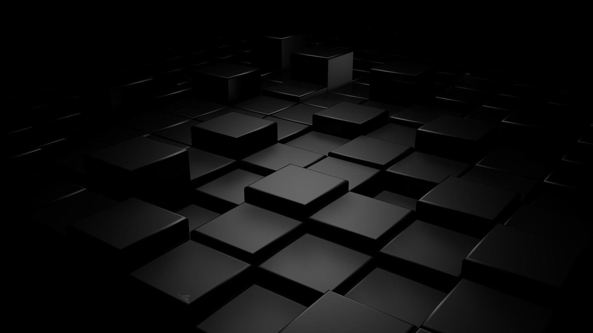 Geometry Dark Abstract Render Cube Digital Art Wallpaper Black Hd Wallpaper Black Wallpaper Android Wallpaper Black
