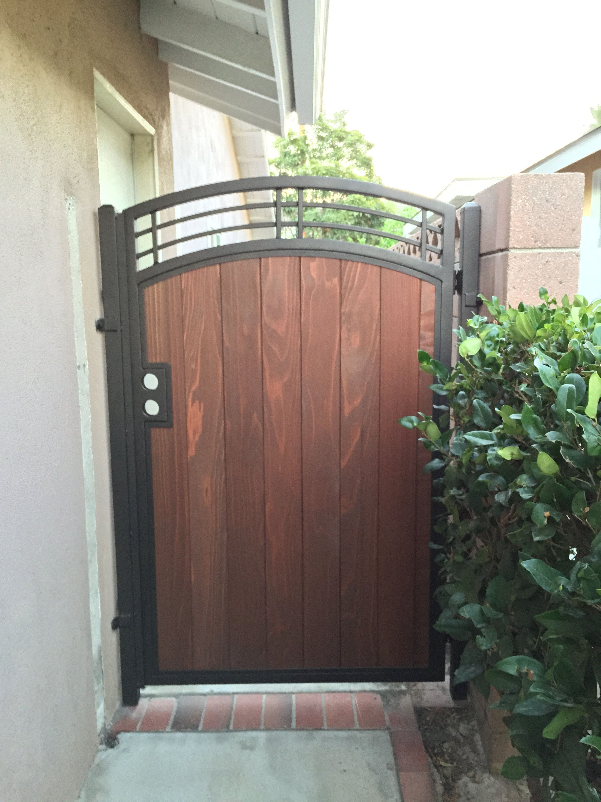 bination Gates Bellflower Steel Framed Wood Gates Bellflower