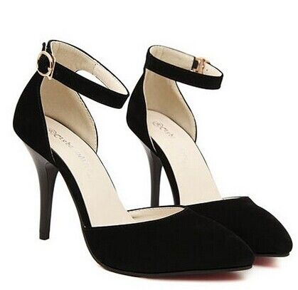 "Elegant Women's Pumps With Belt and Suede Design Color: BLUE, BLACK Size: 35, 36, 37, 38, 39 Category: Shoes > Women's Shoes > Women's Pumps   Pumps Type: Ankle-Wrap  Toe Style: Closed Toe  Toe Shape: Pointed Toe  Shoe Width: Medium(B/M)  Heel Type: Stiletto Heel  Heel Height Range: High(3-3.99"")  Occasion: Party  Upper Material: Suede  Lining Material: PU  Season: Spring/Fall, Summer  #cheapwomenspumpsheels #cheapheels #womensheels #heels #bridgat.com"
