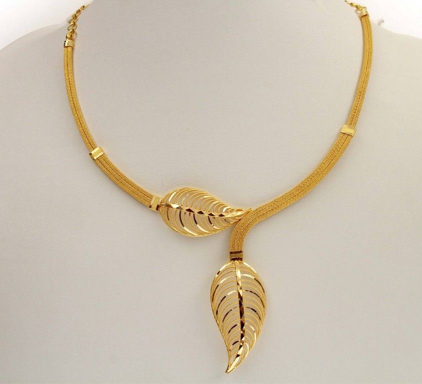 trendy gold chain design leaf pendant gold jewellery and leaves