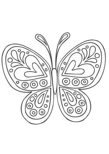 Coloriage Mandala Papillon Mariposas Pinterest Coloring Pages