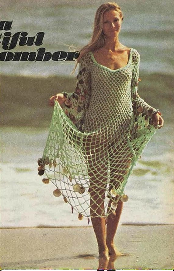 Crochet Pattern Elegant Beachcomber Dress Beach Swimwear Etsy Crochet Clothes Crochet Dress Vintage Crochet