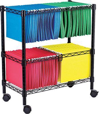 Alera 1 Shelf Wire File Cart Black Alefw601426bl Office Furniture File Cabinets Home Office Furniture Filing Cabinet