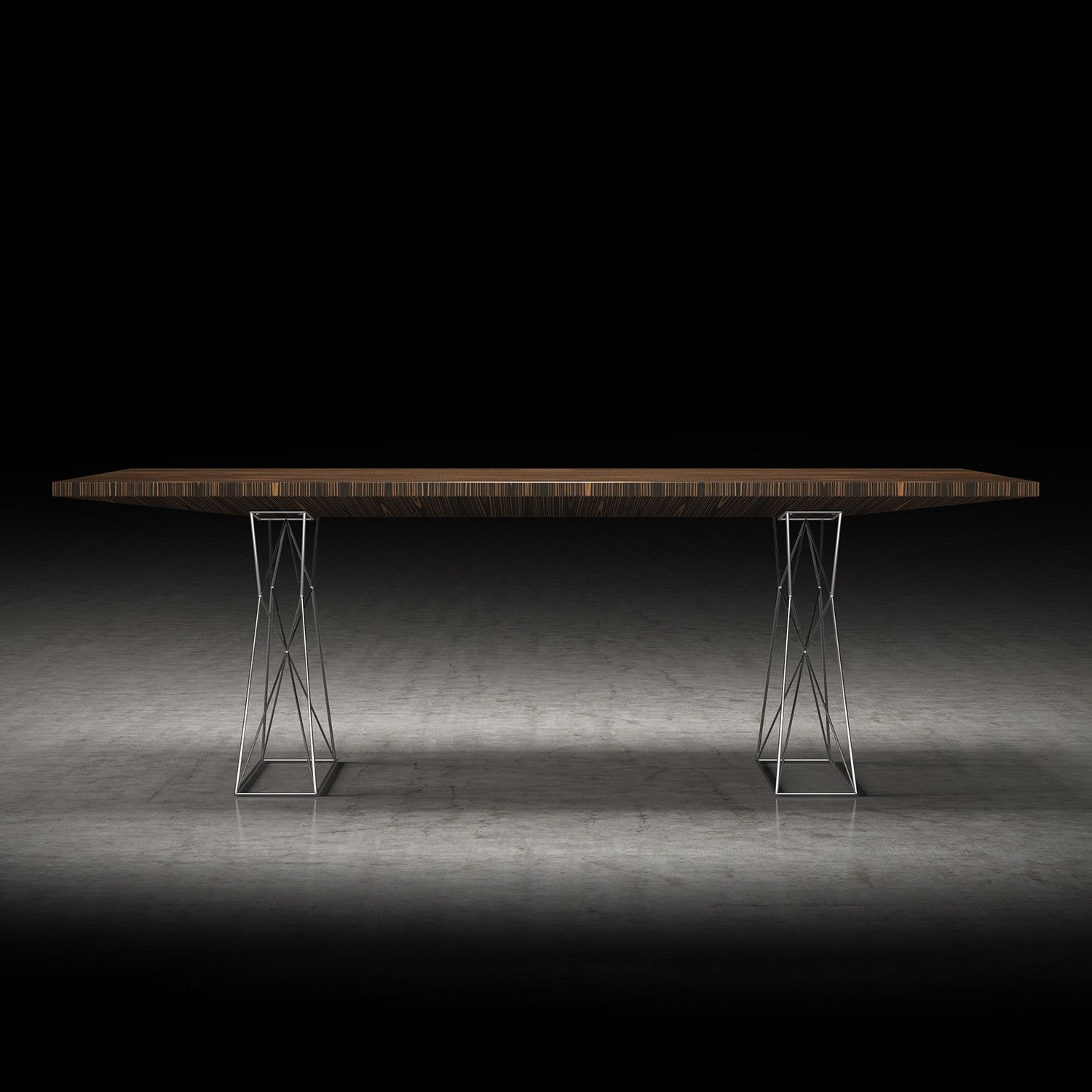"""Curzon Dining Table // Cathedral Ebony (Small: 87""""L x 39""""W x 30""""H)"""