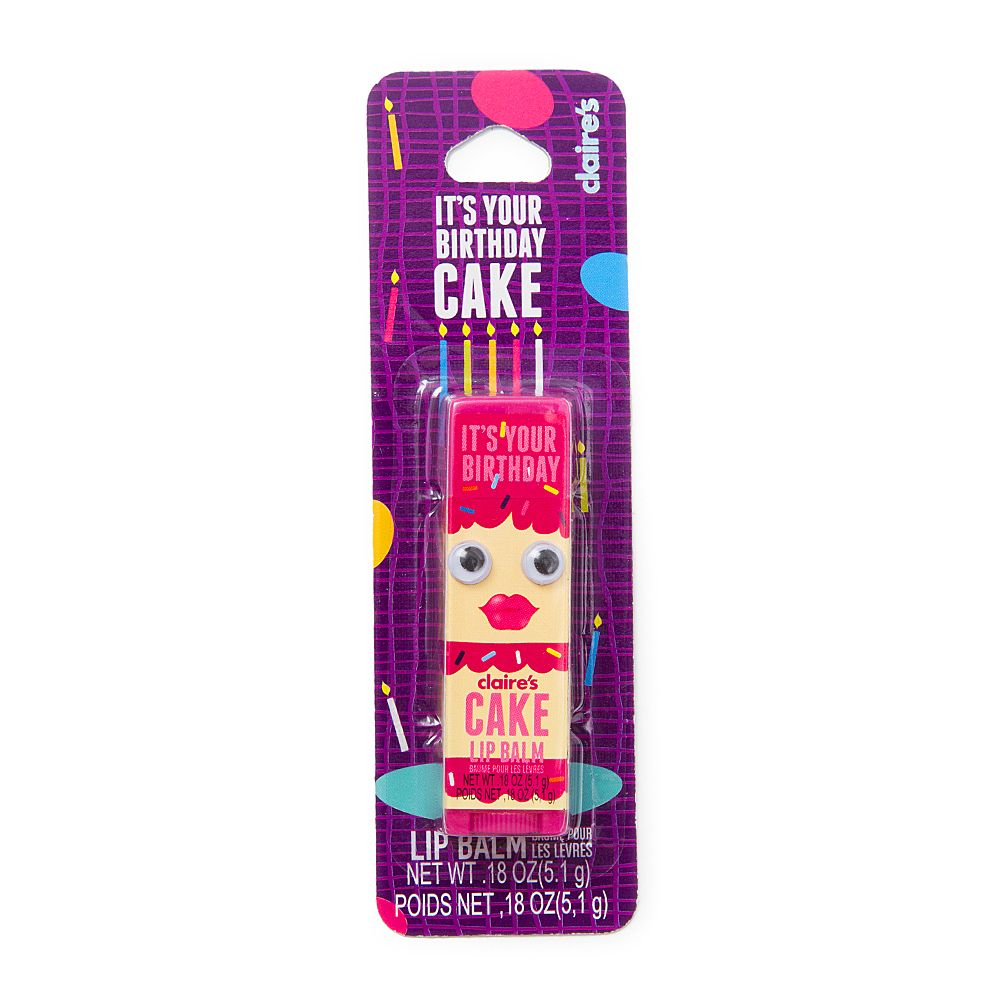 Its Your Birthday Cake Lip Balm Claires Cool Lip Balms