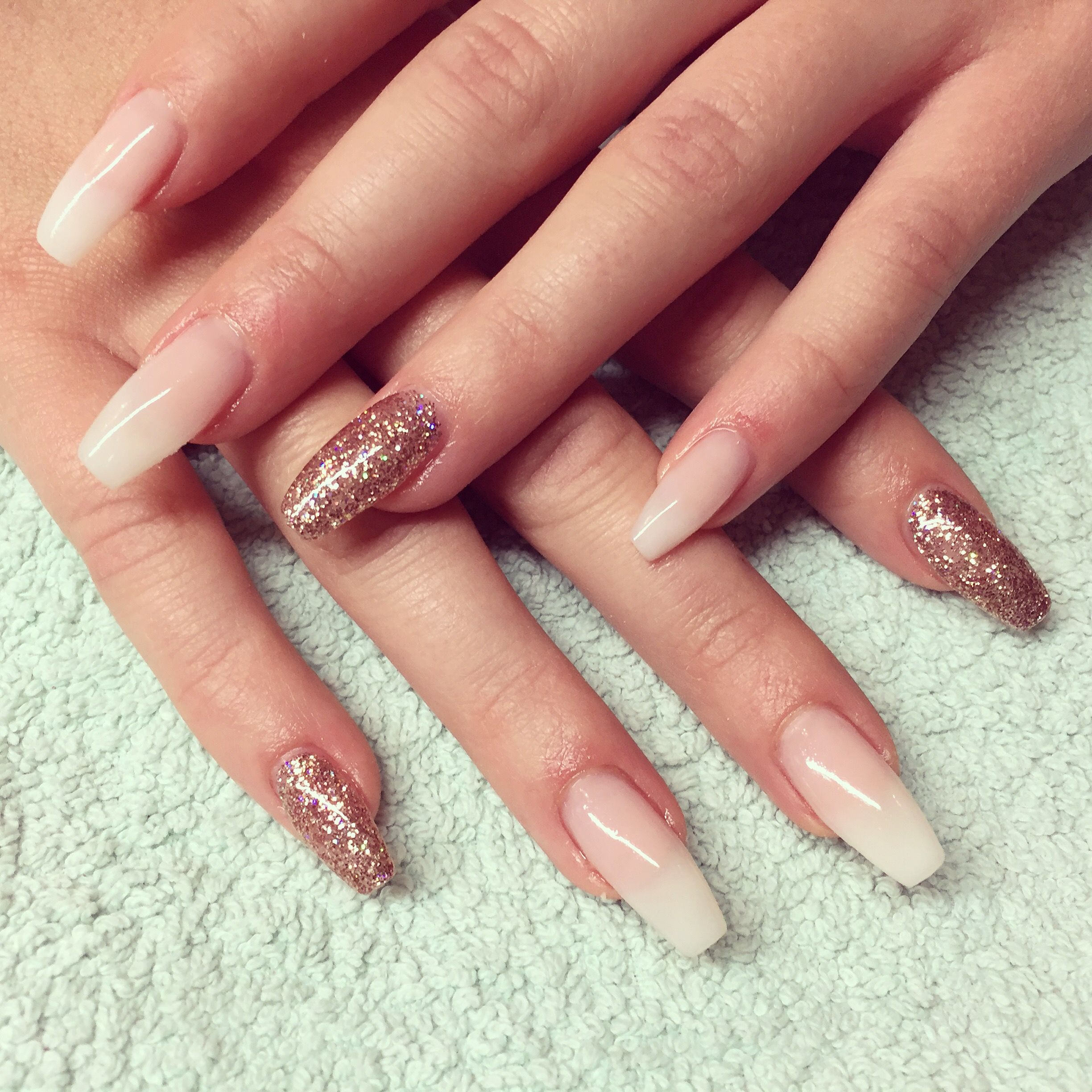 New Nails French with glitter in rosegold #nails #nailart #french ...
