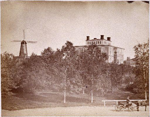 Vikin huvila (Viks villa) Kaivopuistossa. Purettu. Helsingin kaupunginmuseo Carl Adolf Hårdh 1870.