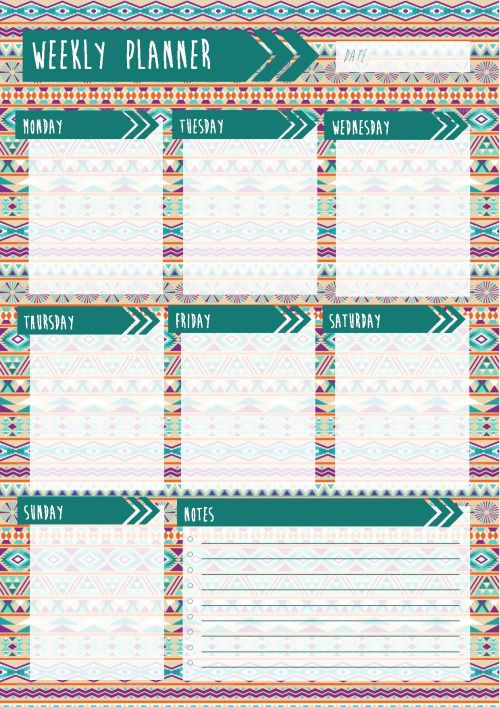 Image result for tumblr planners kalenteri Pinterest - timetable template