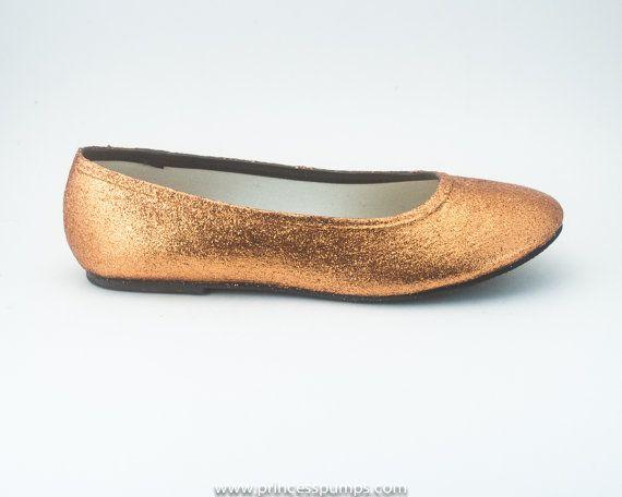 Womens Hand Glittered Royal Blue Glitter Ballet Flats Slip On Shoes by Princess Pumps