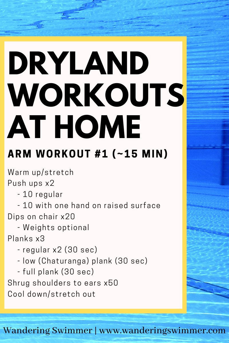 Dryland At Home For Arms Swimming Workout Swimmers Workout Dryland Workouts For Swimmers
