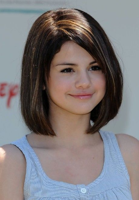 Selena Gomez Short Hair Styles Cute Bob Haircut for Girls