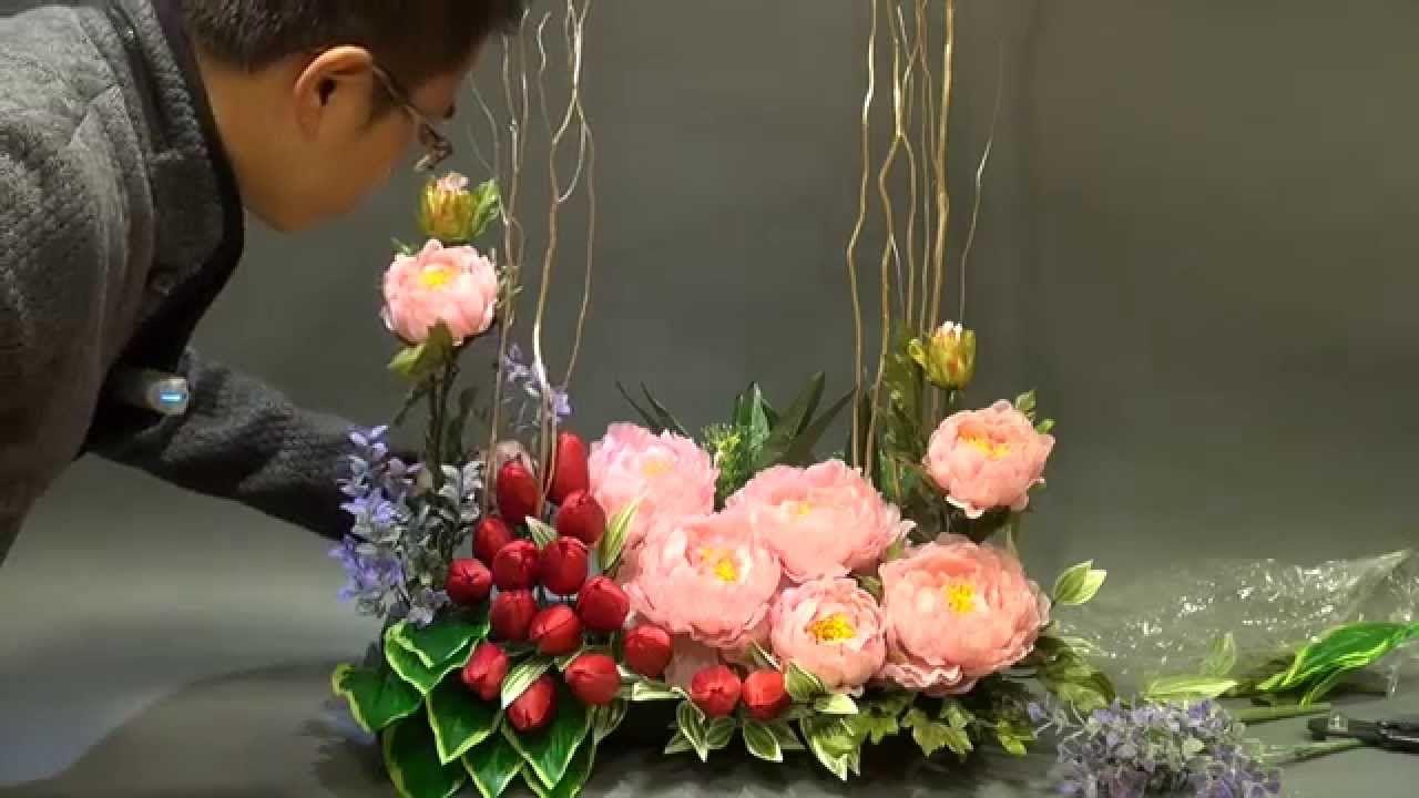 B 119 Silk Flower Arangement For Chinese Lunar New Year