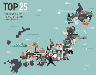 Check out new work on my @Behance portfolio  - best of world map with japan
