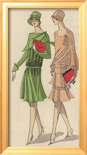 Women In Crepe Afternoon Dresses With Clutch Bags And Gloves From Art Gout Beaute 1930 Lamin Art Nouveau Fashion Art Deco Fashion Art Deco Posters