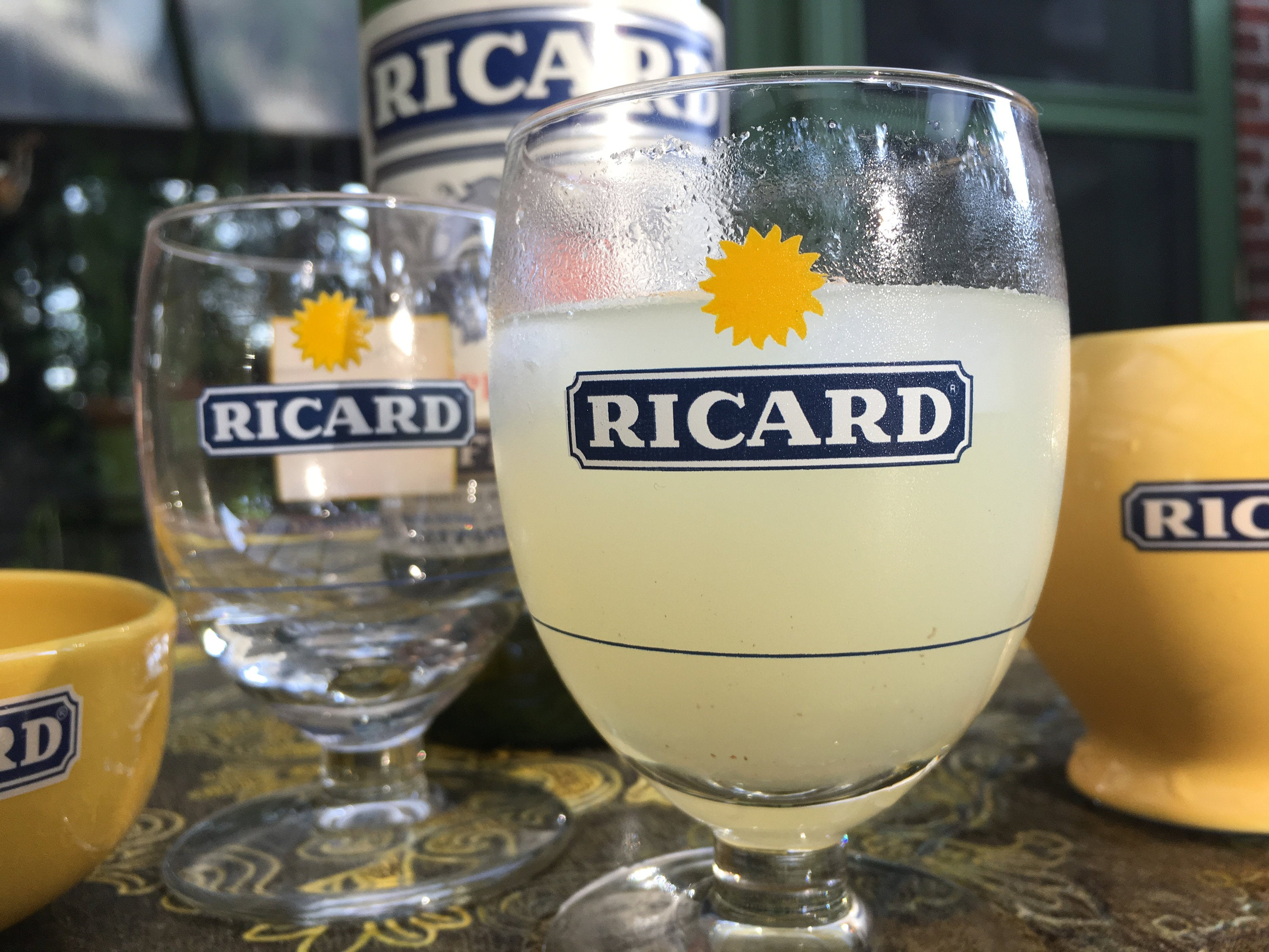 2 French Ricard Glasses Pastis Apero France Collector HTF ...