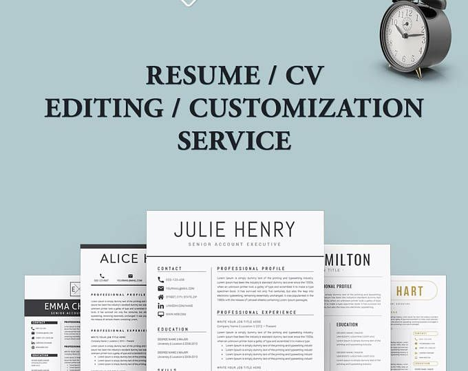 Resume Template - Editing \/ Customization ศิริชัย หลอดศิลป์ - resume customization reasons