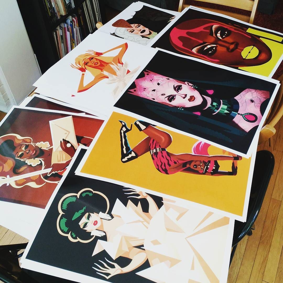 Putting away a bunch of new posters! Find them on my Etsy store: http://ift.tt/246t86S by chadsell01