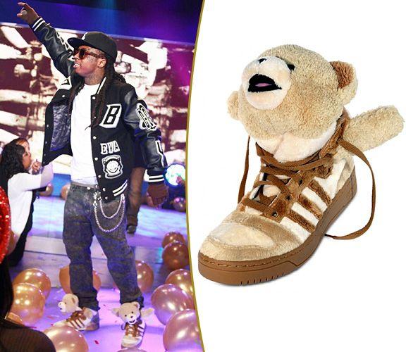 Lil' Wayne First To Rock Jeremy Scott X Adidas Teddy Bear Sneakers | MTV  Style