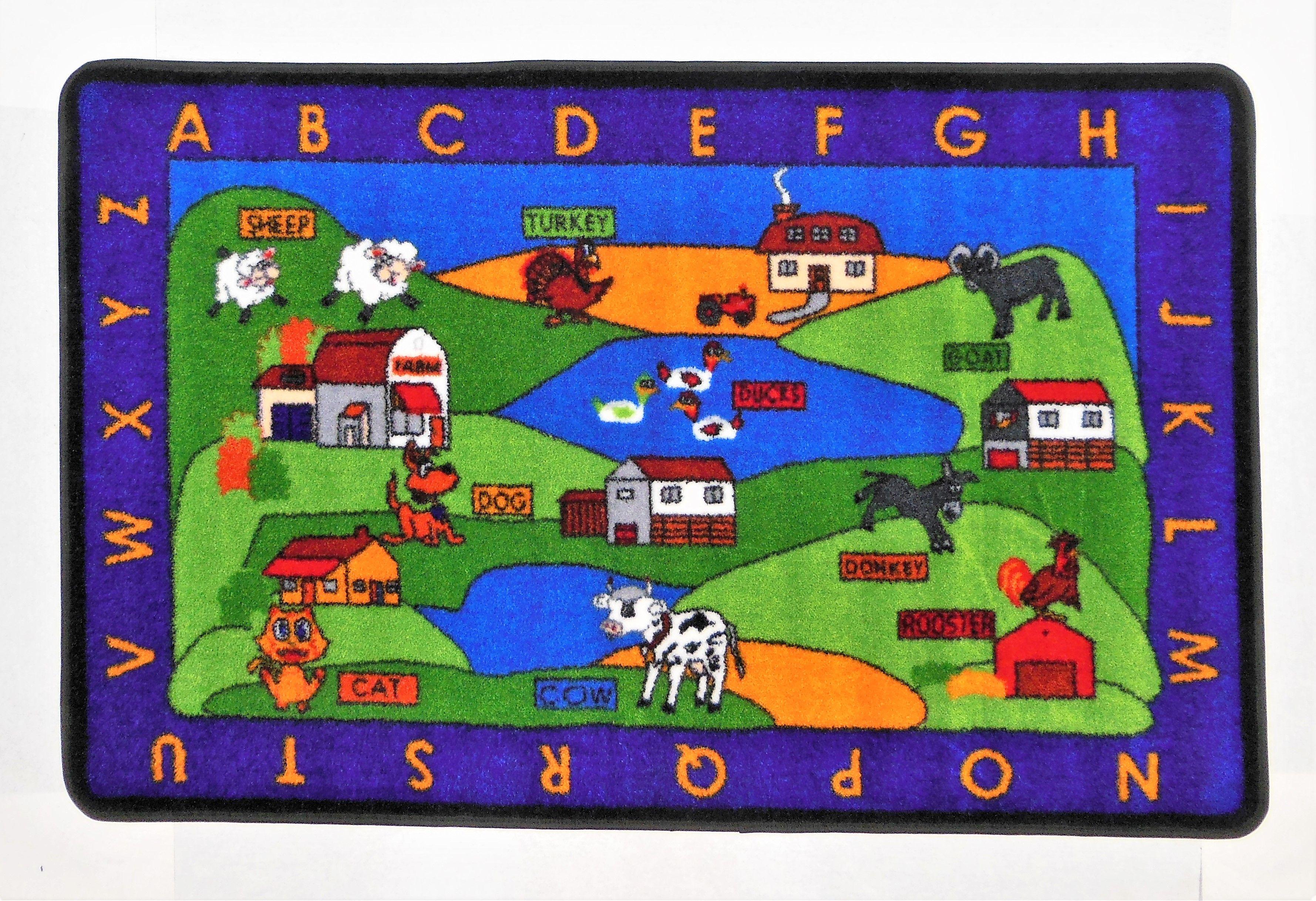 Colorful Educational Area Rug
