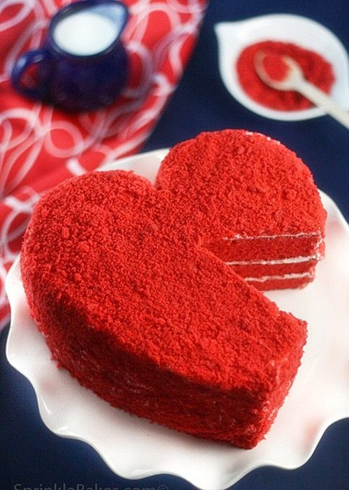 a small red velvet cake for my boyfriends dad on valentines day. thats a way to get approved of and talked about positively