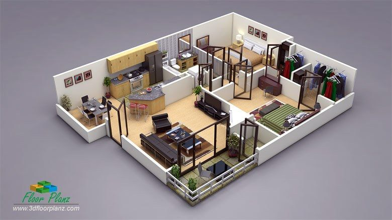 Design Photo Realistic 3d Floor Plans For Your Property And Increase Sale Convert Your