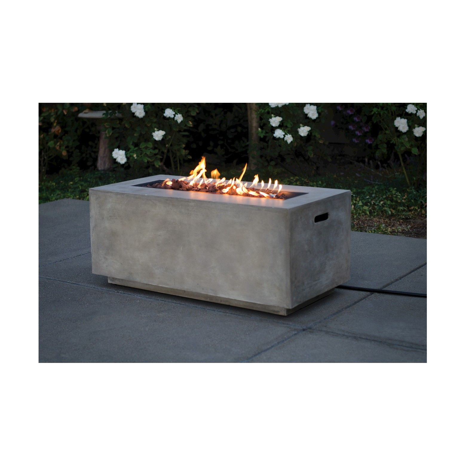Pipestone 42 Long Rectangle Lp Gas Fire Table Concrete Gray Project 62 Target Fire Pit Gas Fire Table Outdoor Fire Pit