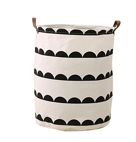 CLOCOR Large Storage Bin-Cotton Storage Basket-Round Gift Basket with Handles for Toys,Laundry,Baby Nursery Grey Semicircle